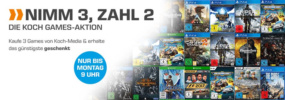 Nimm 3, Zahl 2, Die Koch-Games Aktion (Diverse PS4, XBOX, PC, Switch-Spiele)