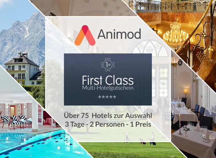 Animod First Class Universal-Hotelgutschein für 144,98 €