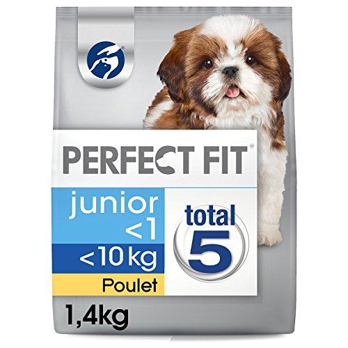 Perfect Fit Hunde Trockenfutter Junior für Welpen unter 10 kg mit Huhn, 5 Packungen (5 x 1,4 kg)spar abo