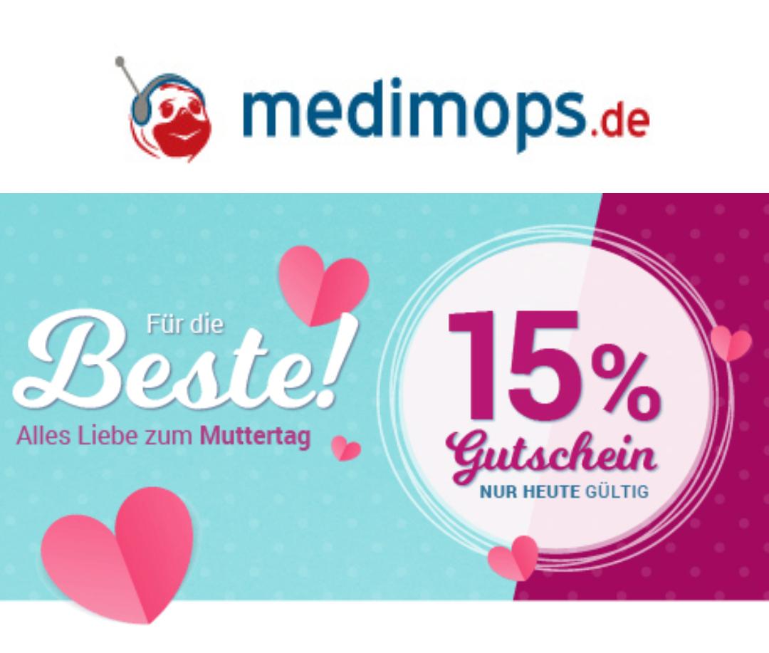 [Medimops] 15% Rabatt auf alles! Aktion verlängert! Gilt auch heute noch! MBW 20€