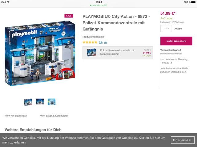 Playmobil City Action 6872 Polizei-Kommandozentrale