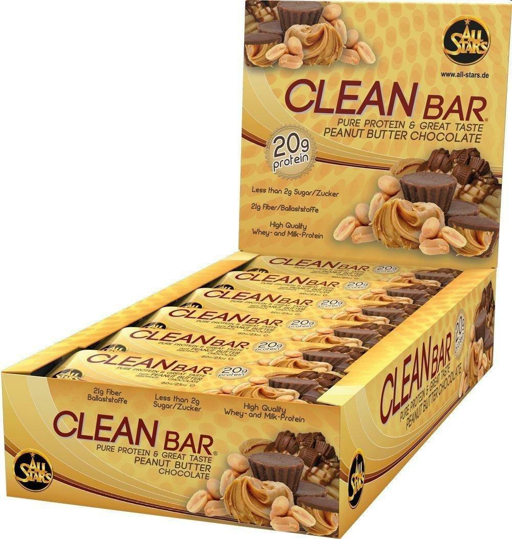 All Star Clean Bar Low Carb Riegel (18x60g) in zwei versch. Geschmacksrichtungen