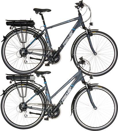 ZWEI E-Bikes/Pedelecs - FISCHER Sparset Da./He. Trekking E-Bike mit 15% Neckermann Gutscheincode - 36V/250W HR-Motor, 24 G.-Shimano Kettensch., ETH/ETD 1401