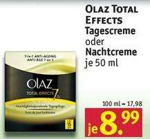Rossmann: Oil of Olaz Total Effects 7 Tages-/Nachtcreme zu 8,99 ohne GS