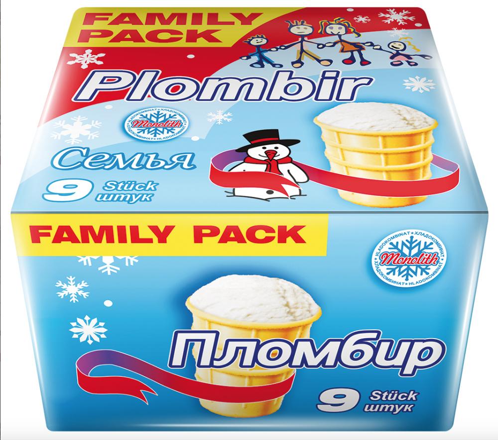 ( Mix Markt ) Plombir Eis 9 Stk  ( 1170ml )