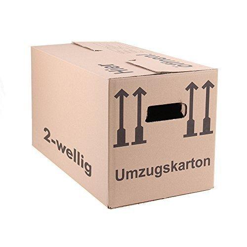 30 Umzugskartons Faltkartons Umzugskisten Movebox 2-wellig doppelter Boden Profi Made in Germany 600 x 330 x 340mm  / kostenlose Lieferung
