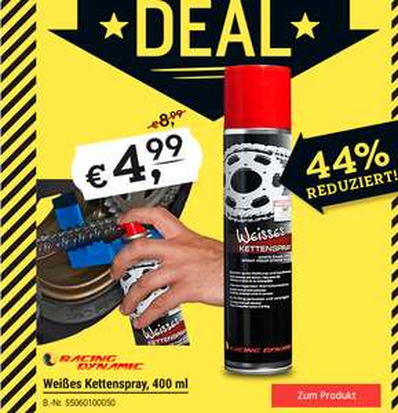 Weißes Kettenspray 400ml 4,99€ statt 8,99€ bei Polo (online/offline)