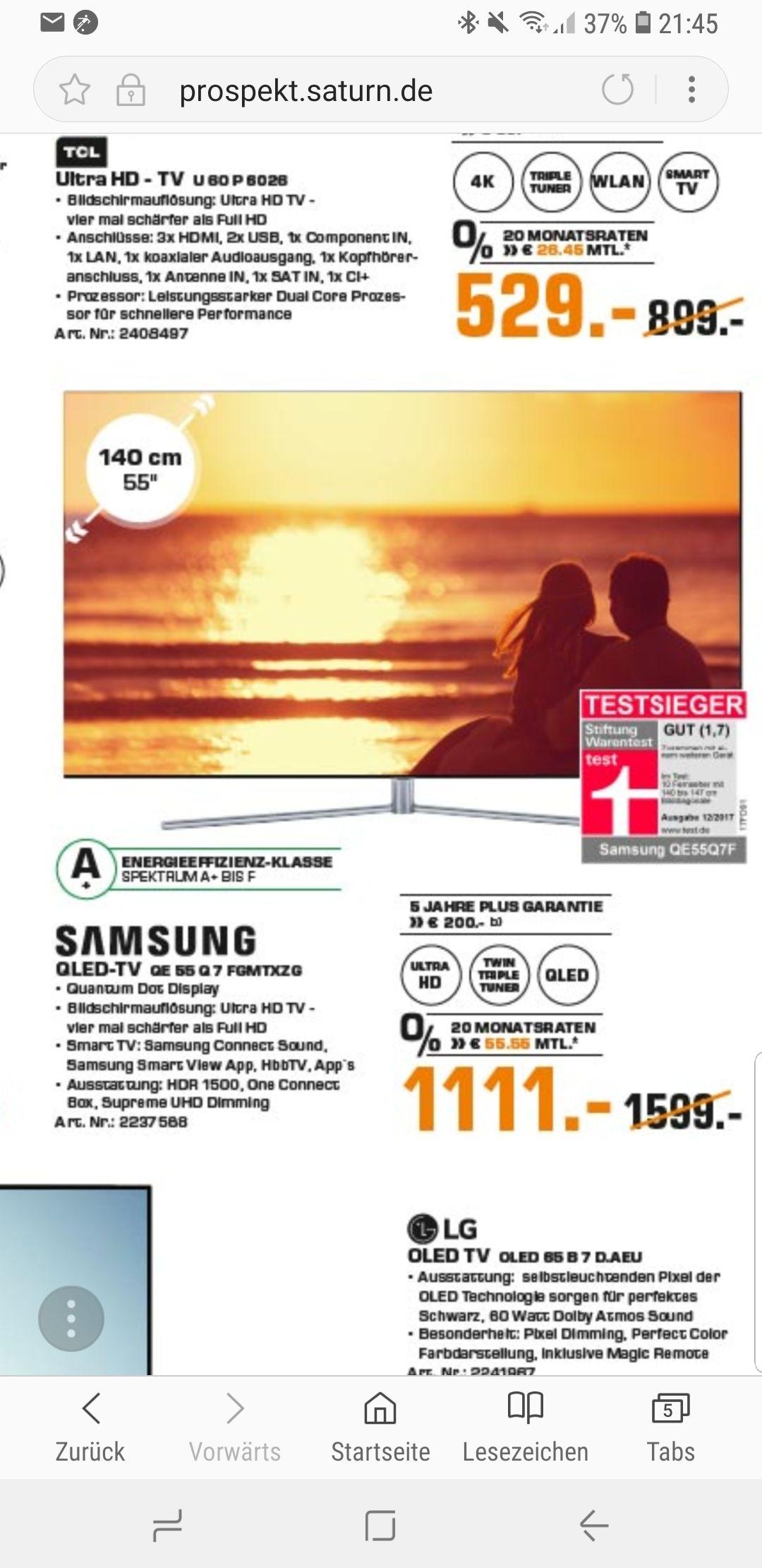 (LOKAL) Saturn Bochum Samsung QE55Q7F