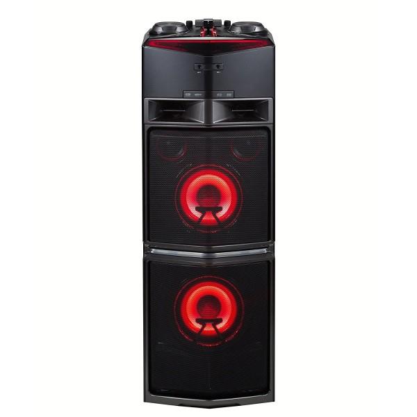 LG OJ98 Onebody Party DJ Hifi-System 1800W chrom-schwarz-rot