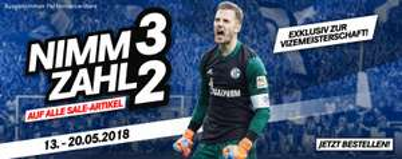 Nimm 3 zahl 2 auf alle Schalke Sale Artikel
