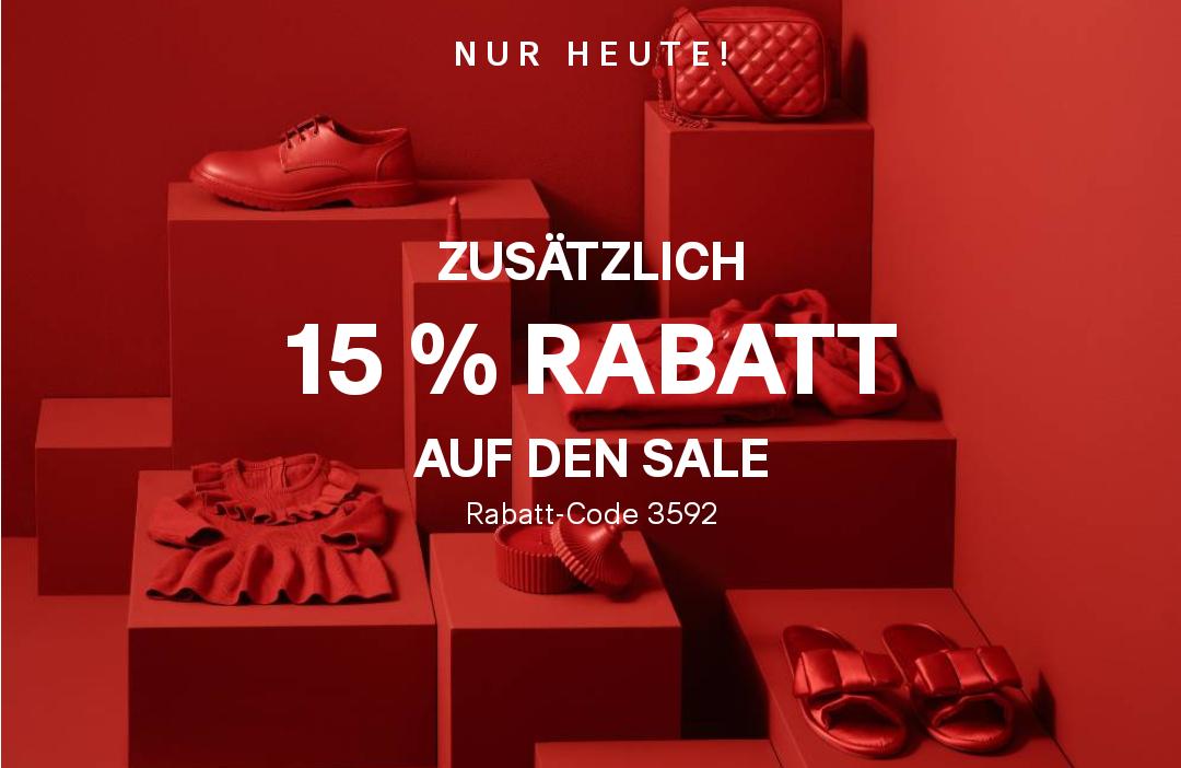 15% Rabatt auf alle Sale-Artikel bei H&M + 2% Shoop - nur heute!