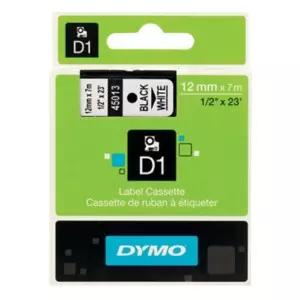 10x DYMO Schriftband D1 - 12 mm x 7 m Schwarz auf Weiß (auch andere Farben und Breiten zu anderen Rabatten erhältlich)
