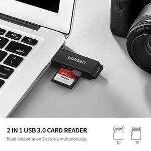 USB 3.0 Kartenlesegerät für 4,99€ - Ugreen Adapter mit Slots für SD, SDHC, SDXC, Micro SD, Micro SDHC, Micro SDXC, MMC, RS-MMC [Prime]