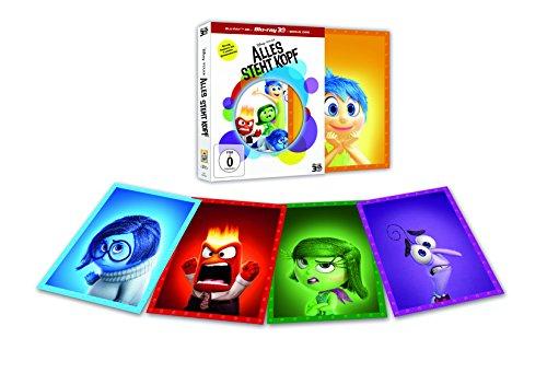 (Amazon/Dodax) Alles steht Kopf [3D Blu-Ray, 2D Blu-Ray und Bonusdisc] [Limited Edition inkl. 5 Karten] für 12,99 EUR
