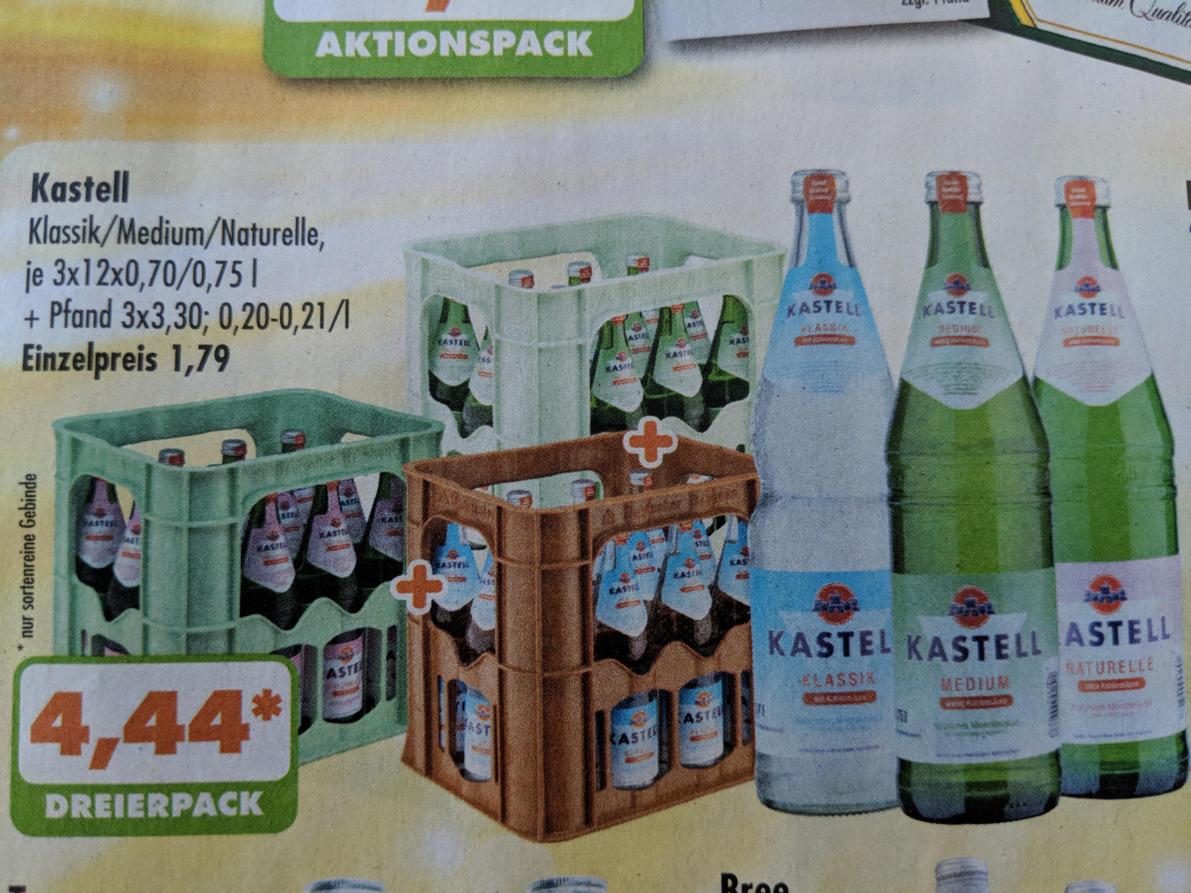 [Regional NRW TRINK & SPARE] 3 x 12 x 0,7 Liter Wasser (Sprudel, Medium oder Naturell) für 4,44 Euro