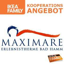 [LOKAL IKEA KAMEN] 2 FÜR 1 Eintrittskarten im Maximare Hamm - Kooperationsangebot IKEA FAMILY
