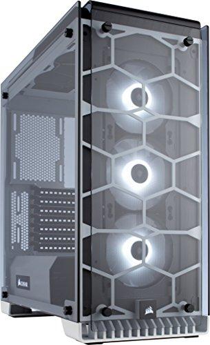 [amazon]  Corsair Crystal 570X RGB PC-Gehäuse (Kompakt Mid-Tower ATX, mit gehärtetem Glas und RGB-Lüftern) in weiß
