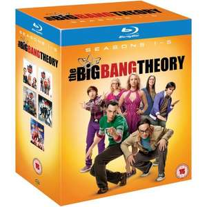 Big Bang Theory Komplettbox Staffeln 1 bis 5 UK-Import (Bluray 67,80€ & DVD 53,58€)