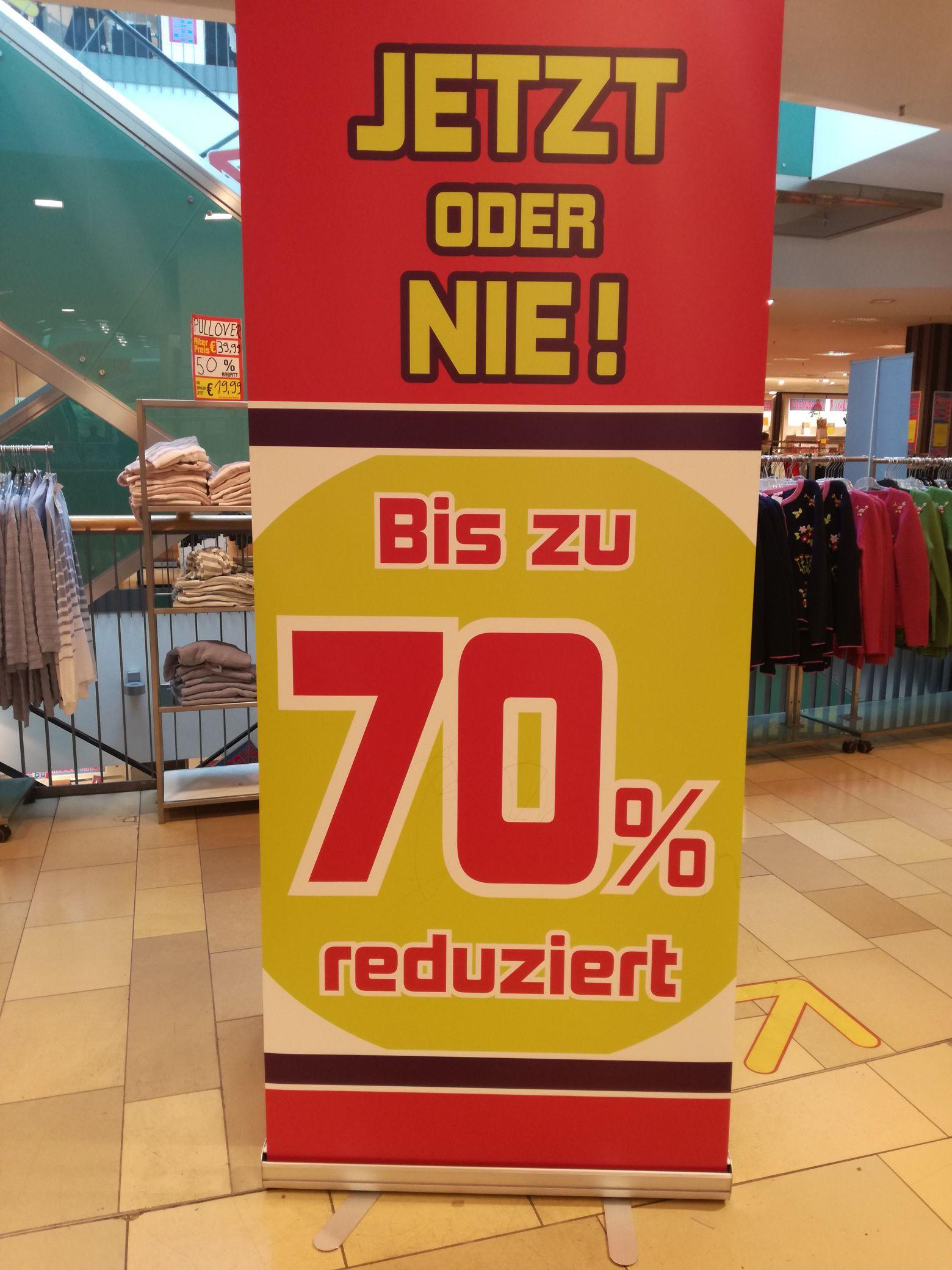 Bis zu 70% im Wöhrl (OEZ) lokal in München