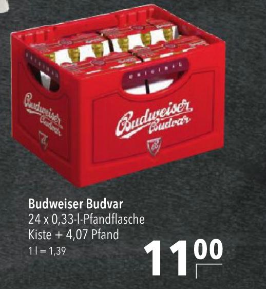 [Lokal Norddeutschland] Citti Märkte - Kasten Budweiser Budvar 24 x 0,33l - 11,00€