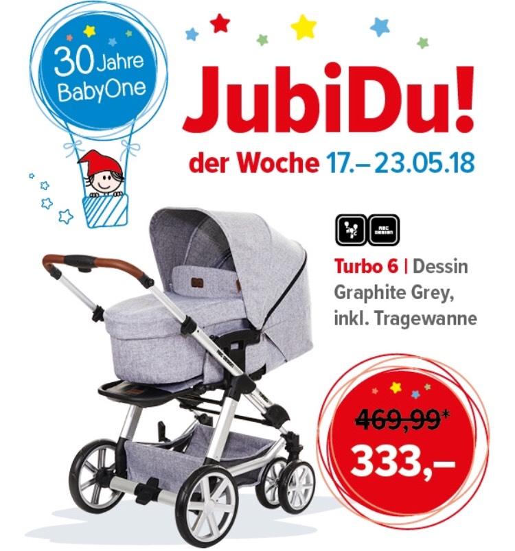 [BabyOne] ABC Design Turbo 6 Kombikinderwagen Dessin Graphite Grey