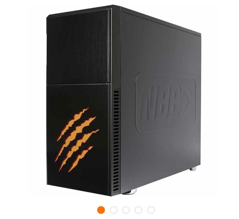 NBB Raubtier Gaming-PC [i7-8700 / 16GB / 240GB SSD / 3TB HDD / GTX 1080]