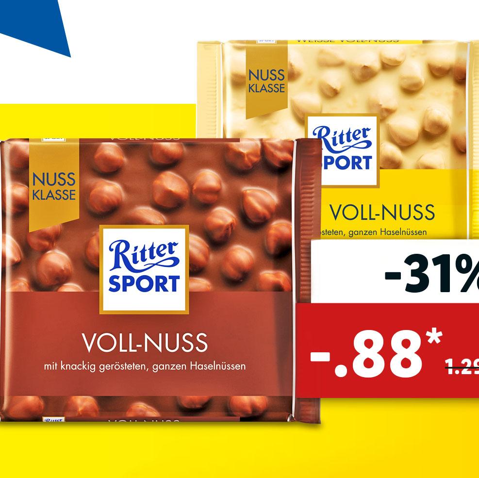 Ritter Sport - Nussklasse 88 Cent bei (Lidl) / Ab 30.05. auch für 88 Cent bei (Netto MD)