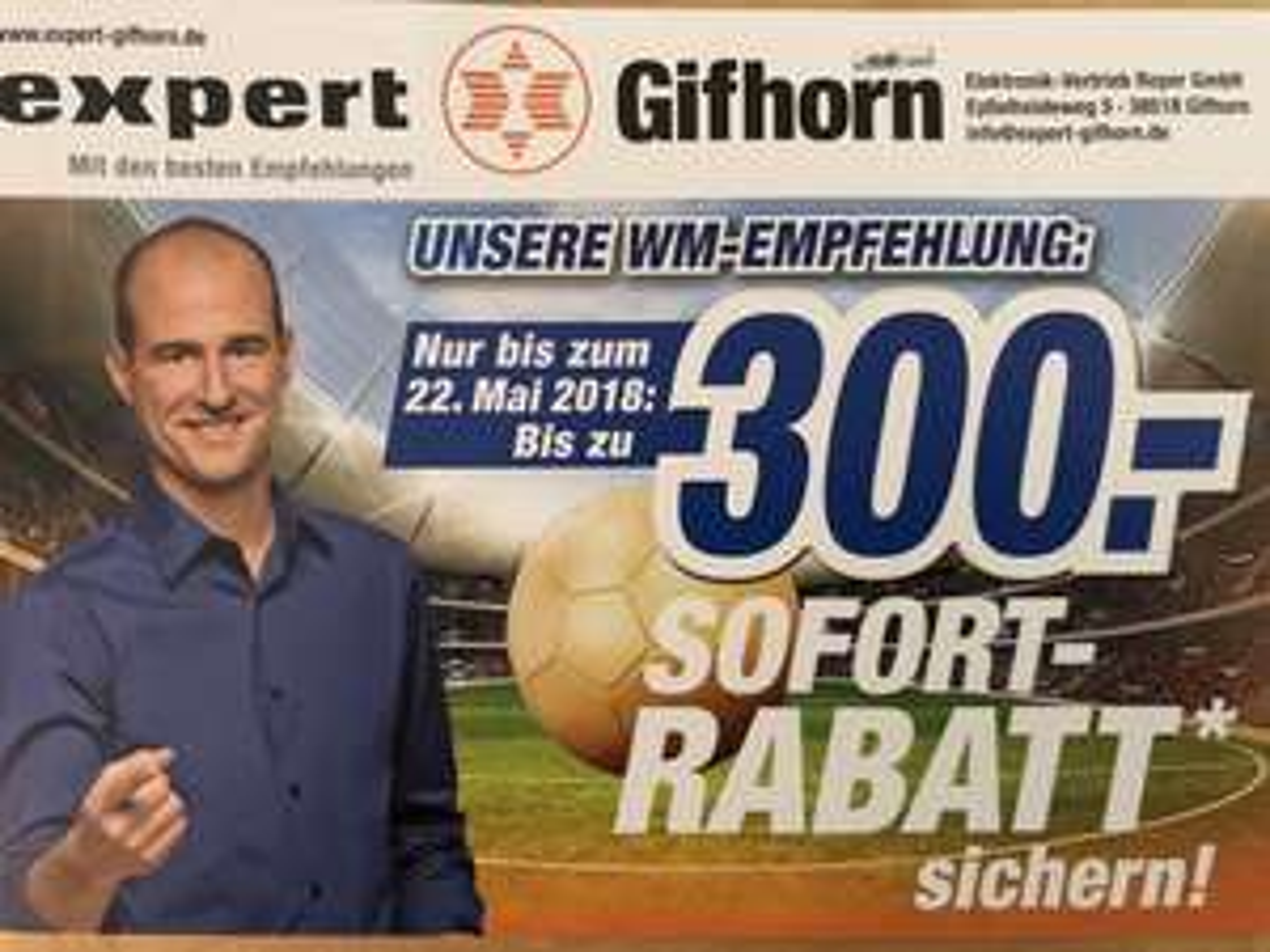 Expert Gifhorn [Lokal] Bis zu 300€ Sofort-Rabatt sichern