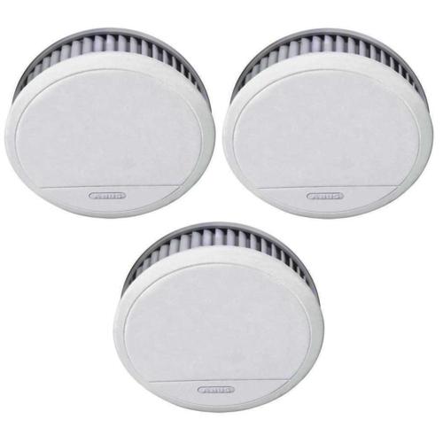 3x ABUS RM20 Li - Rauchmelder für 50€ - mit Hitzewarnfunktion | geeignet für Küche und Schlafzimmer | 12 Jahre