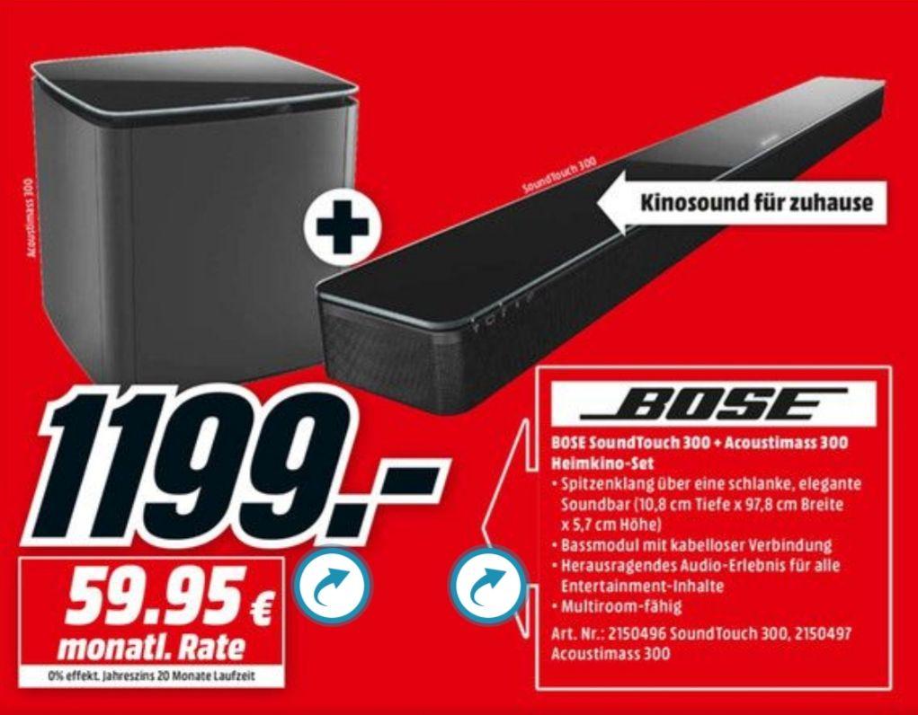 Bose Lifestyle SoundTouch 300 Soundbar + Acoustimass 300 schwarz Bundesweit