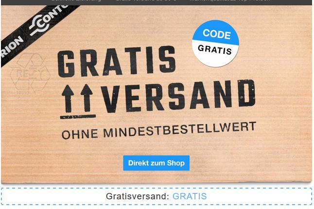 [Contorion] Gratis Versand ohne Mbw bis Pfingstmontag