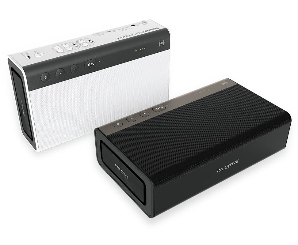 Wieder aktuell: Credative Sound Blaster ROAR 2 - Tragbarer Bluetooth-Lautsprecher (NFC-Funktion, AAC, aptX, 5 Treiber, integrierter Subwoofer, MP3 direkt von SD-Card etc) im Creative-Onlineshop versandkostenfrei