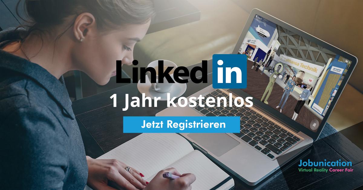 LinkedIn Premium ein Jahr kostenlos bei Registrierung @ Jobunication Die Online Karrieremesse