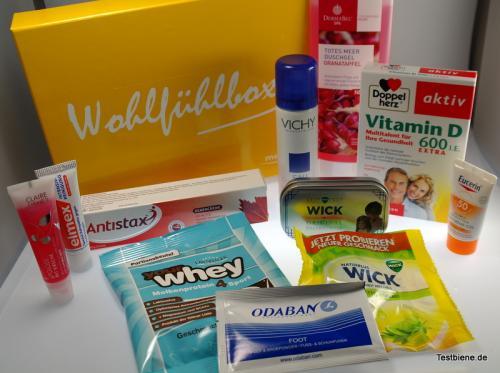 Medpex: Wohlfühlbox (Überraschungsbox gut gefüllt) + gratis Handcreme + Fuß-Pflegeschaum - 7,90 inkl. Versand
