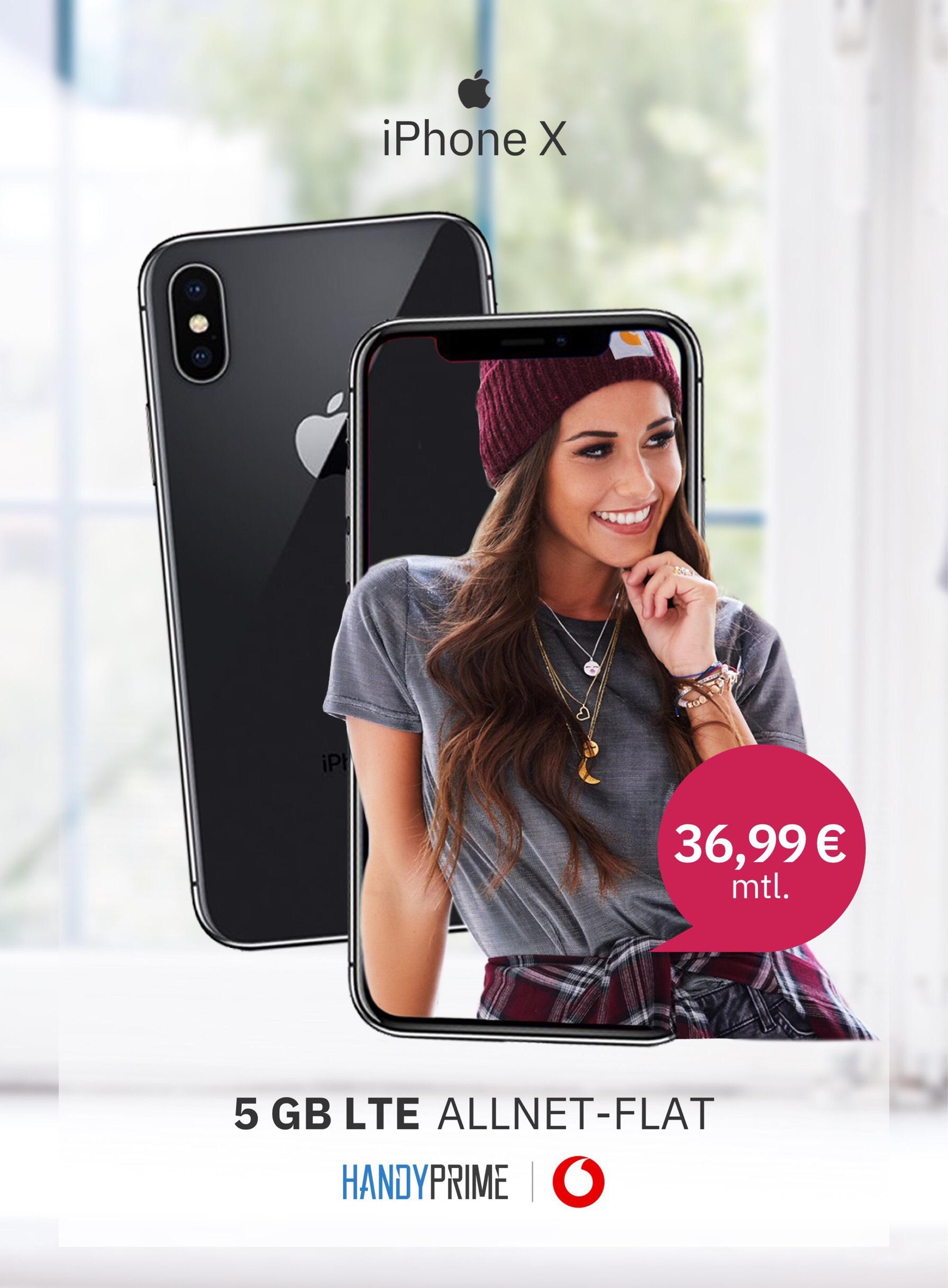 Apple iPhone X & weitere Smartphones Vodafone Smart L+ (5GB LTE, Allnet- & SMS Flat)