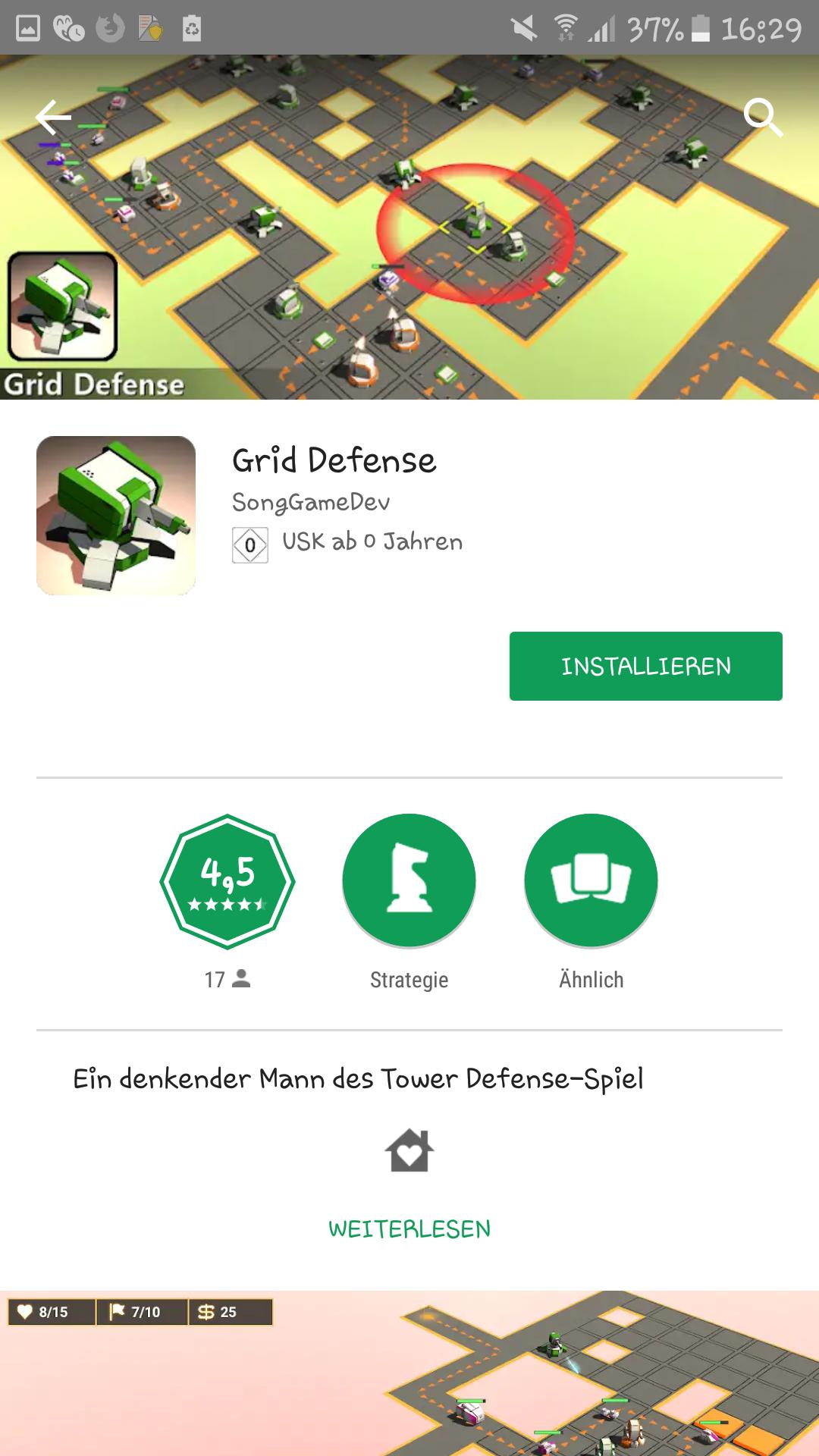 Grid Defense kostenlos statt 1,99€ [Android]
