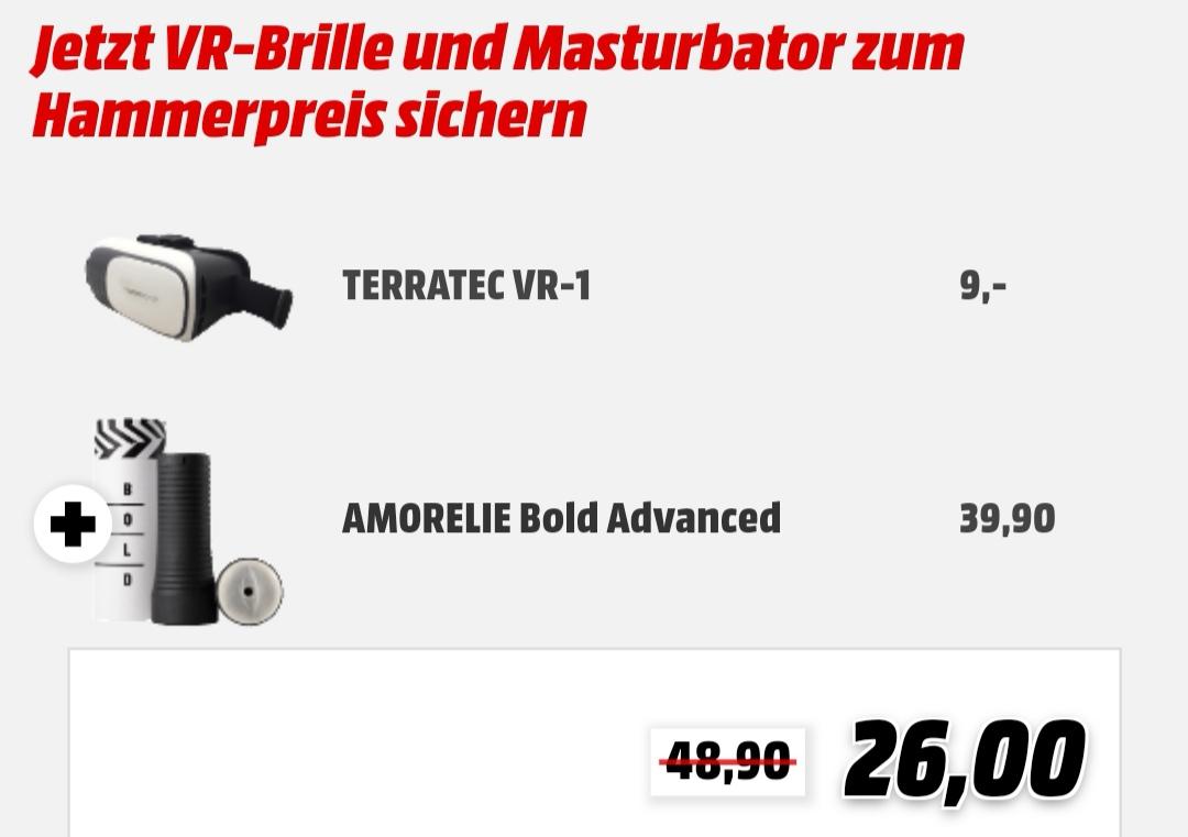 Media Markt VR-Brille und Masturbator für 26€