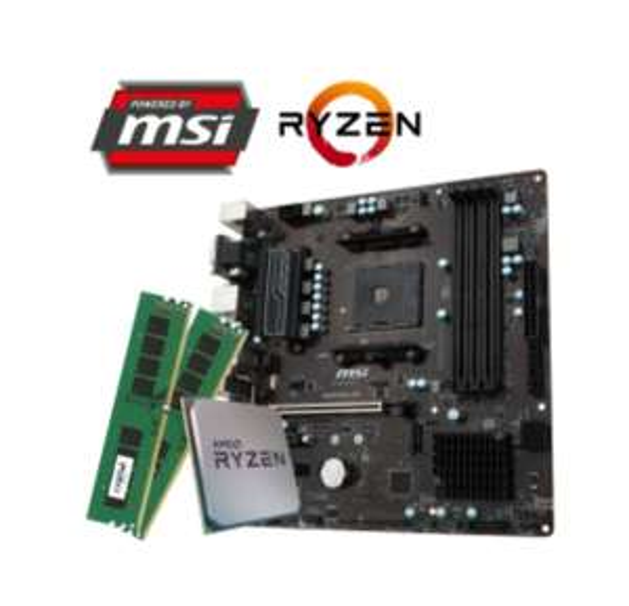 [Dubaro]Gaming PC Aufrüst Kit mit Ryzen 5 2400g, msi B350M Pro-Vdh und 8GB DDR4 Kit