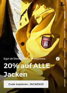 [About You] 20% auf Alle Jacken