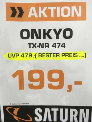 Onkyo TX-NR 474 Saturn Limbecker Platz Essen