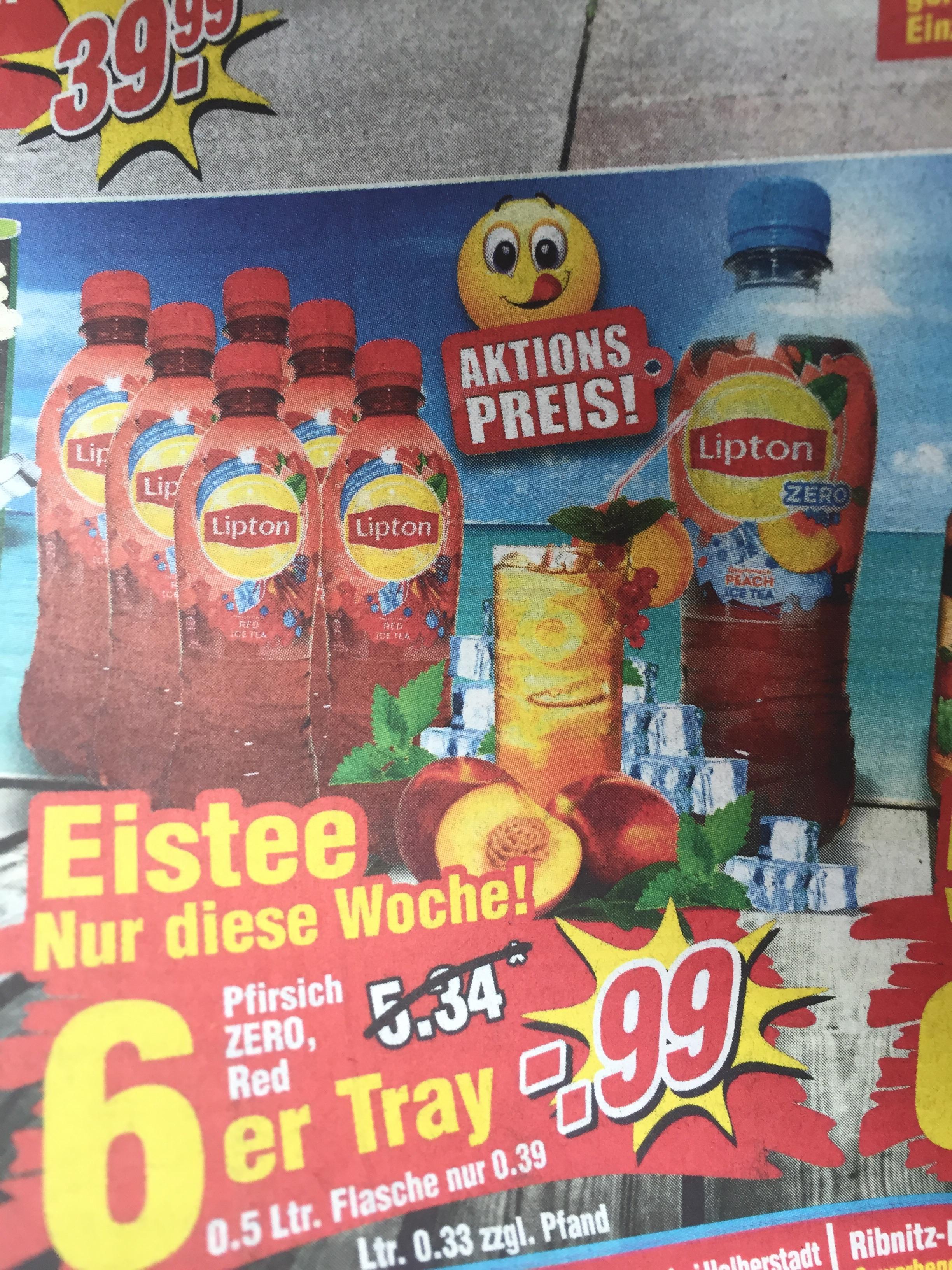 [Wiglo] Lipton Eistee 6x 0,5 Liter Classic, Zero & Red für 0,99€ + 1,50€ Pfand