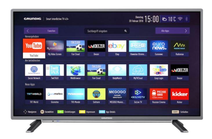 """[ao.de] Sammeldeal: 50€ Rabatt auf ausgewählte Grundig-TVs, z.B. Grundig 43 GFT 6728, Full HD-Smart TV, 108 cm [43""""] - Anthrazit für 299 € anstatt 349 €"""