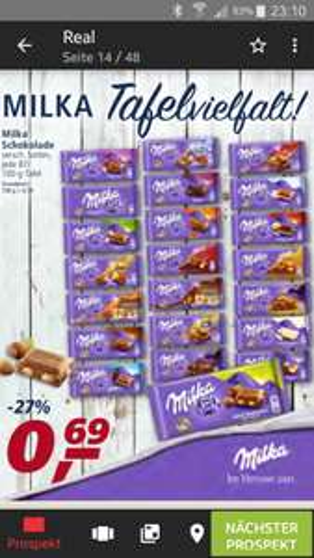 [Real] Milka Schokolade bundesweit