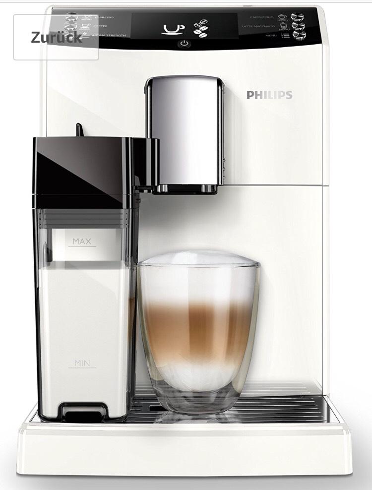 Philips EP3362/00 Kaffeevollautomat (Milchkaraffe, AquaClean) weiß