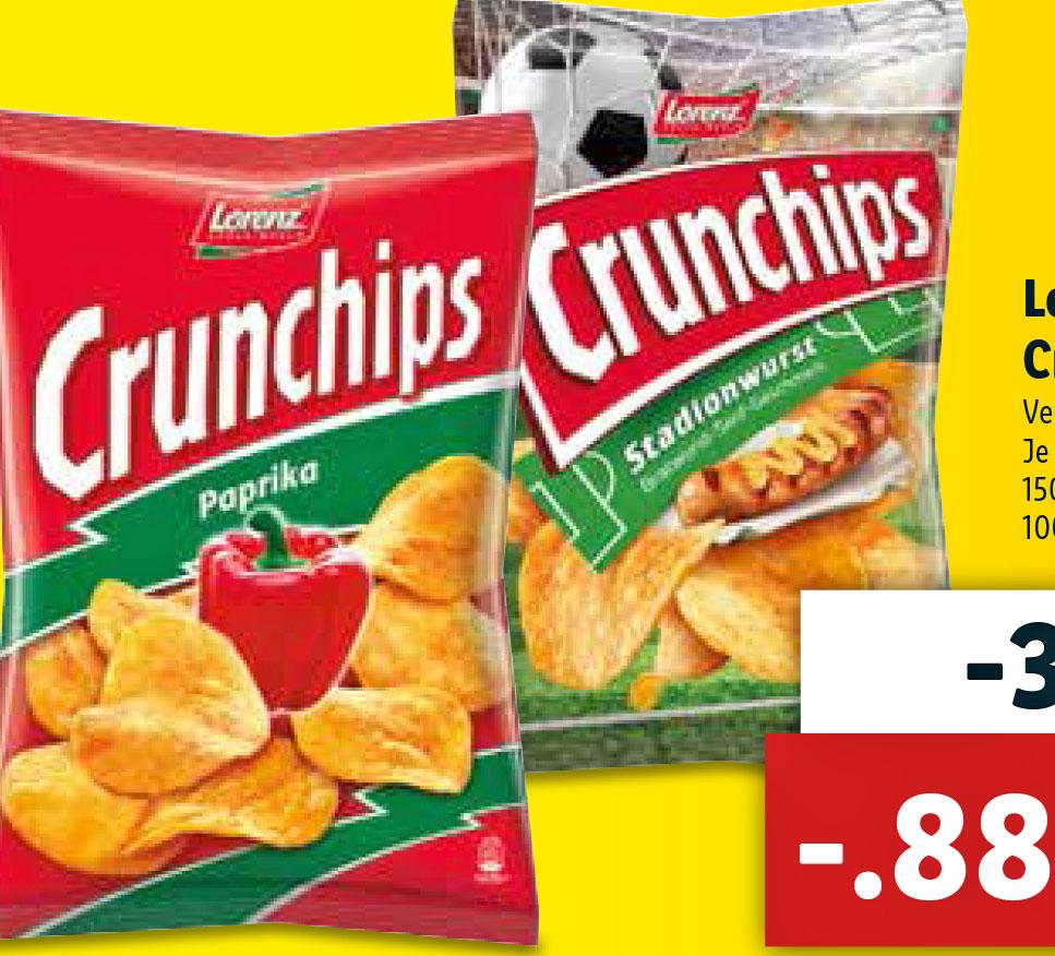 (Lidl Lorenz Crunchips und Erdnußlocken nur 88 Cent