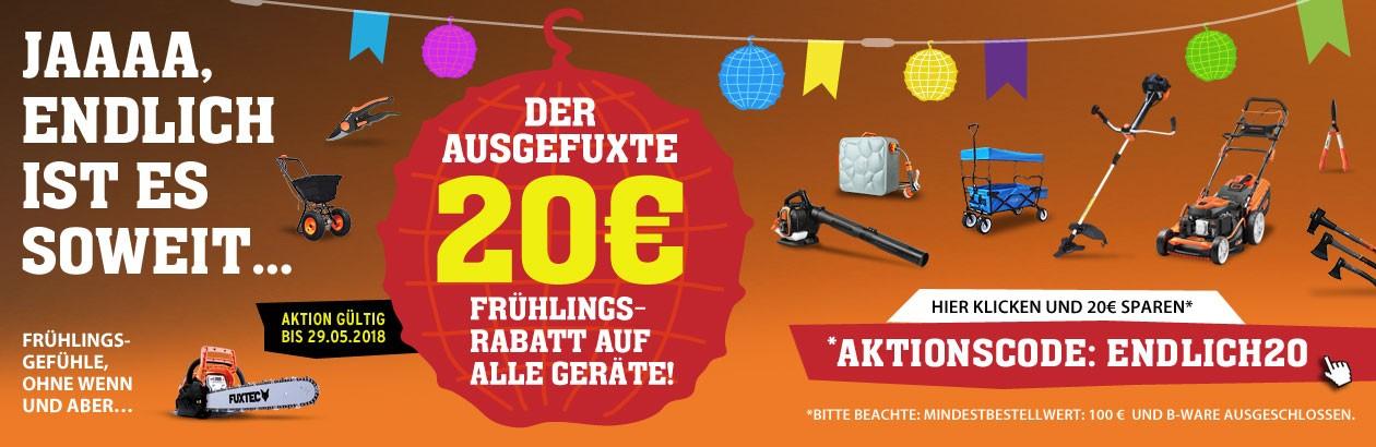 Fuxtec - 20 EUR Frühlingsrabatt für alle Geräte