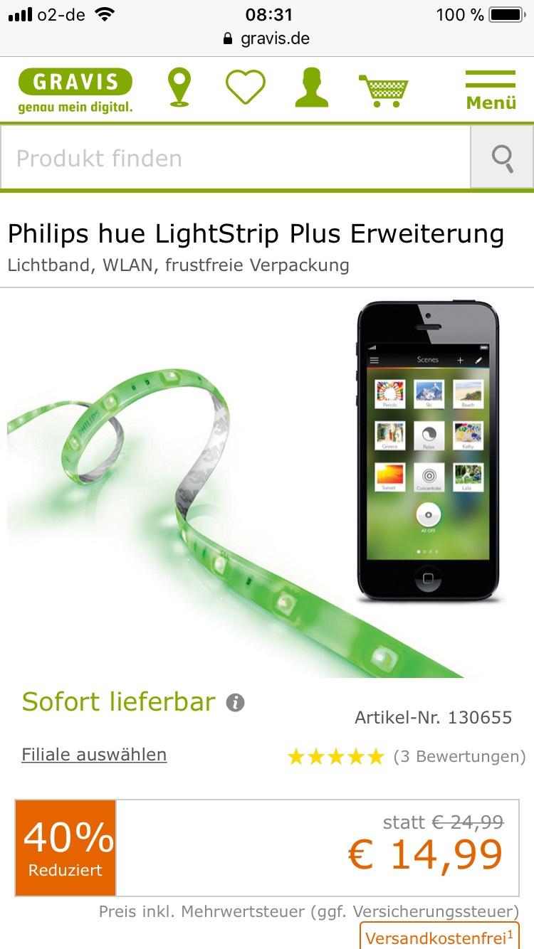 Philips Hue LightStrip Plus Erweiterung