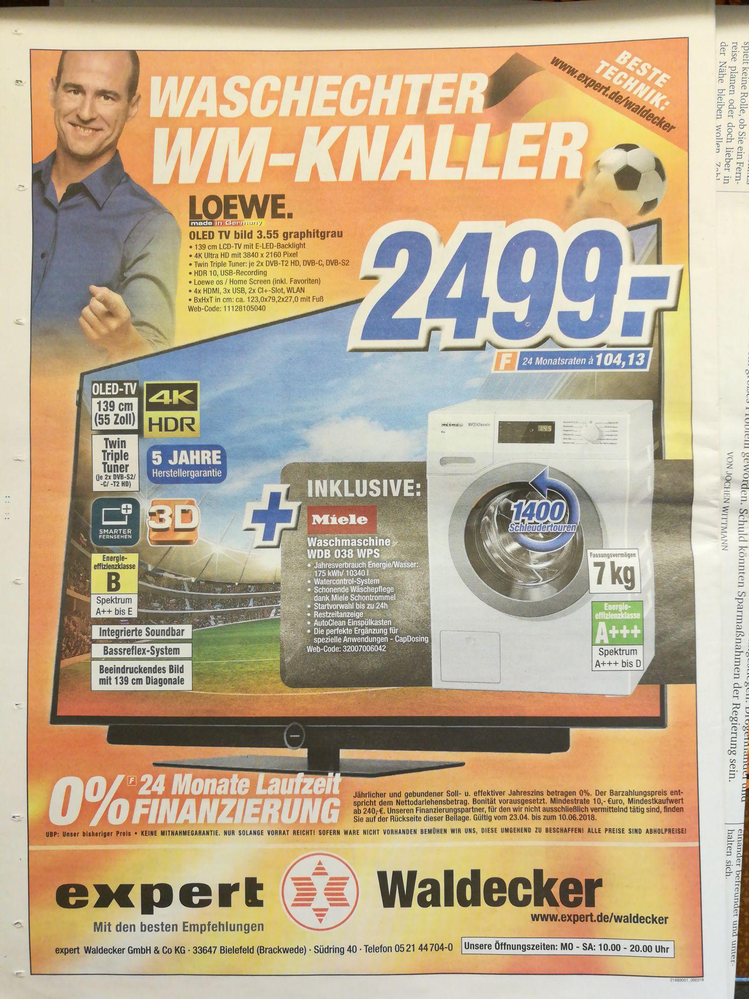 Loewe OLED TV Bild 3.55 + Miele Waschmaschine WDB 038 WPS (lokal BI)