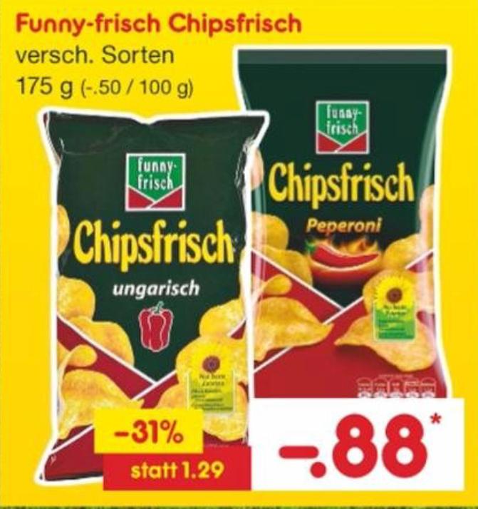[Netto MD] funny-frisch Chipsfrisch 175g für 0,88€