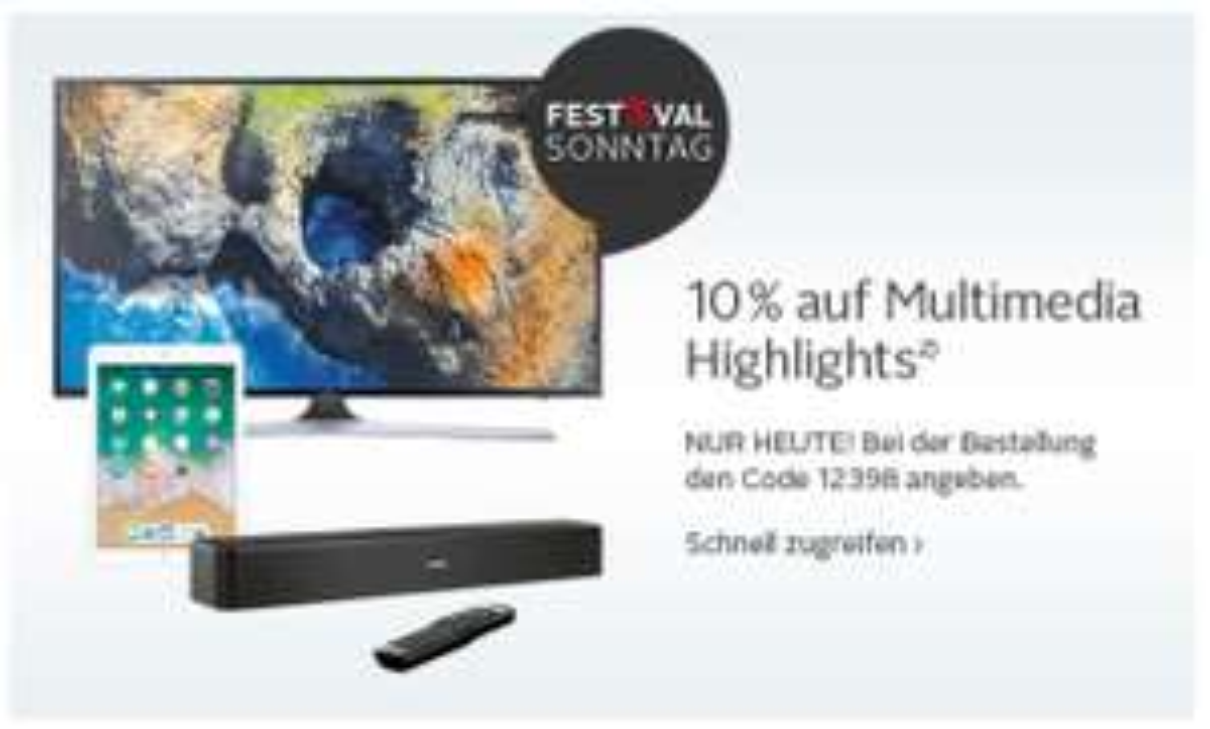 [OTTO] 10% auf Multimedia Highlights z.B. Bose QC 35 II für 278,88€ (ggf. plus Versand) - auch Ipad 2018 usw.